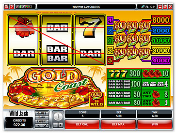 online slot machine betting
